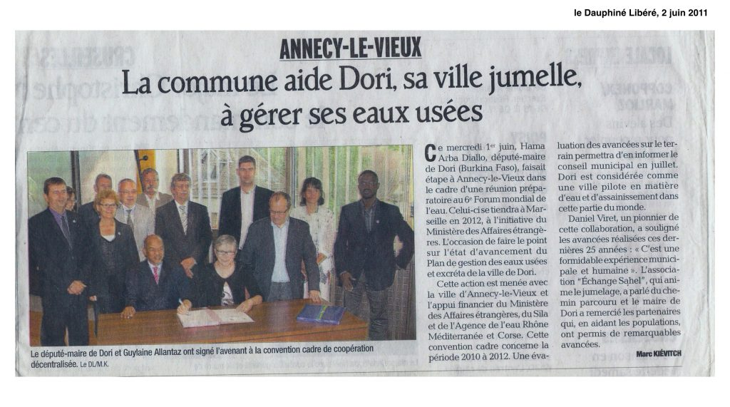 La commune aide Dori, sa ville jumelle, à gérer ses eaux usées