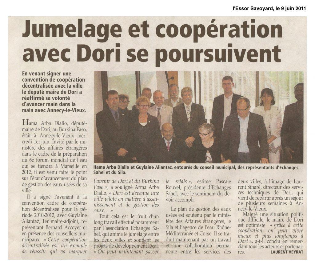 Jumelage et coopération avec Dori, une volonté réaffirmée