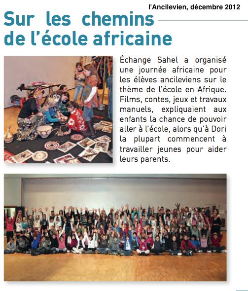 Journées Africaines, comprendre l'école en Afrique
