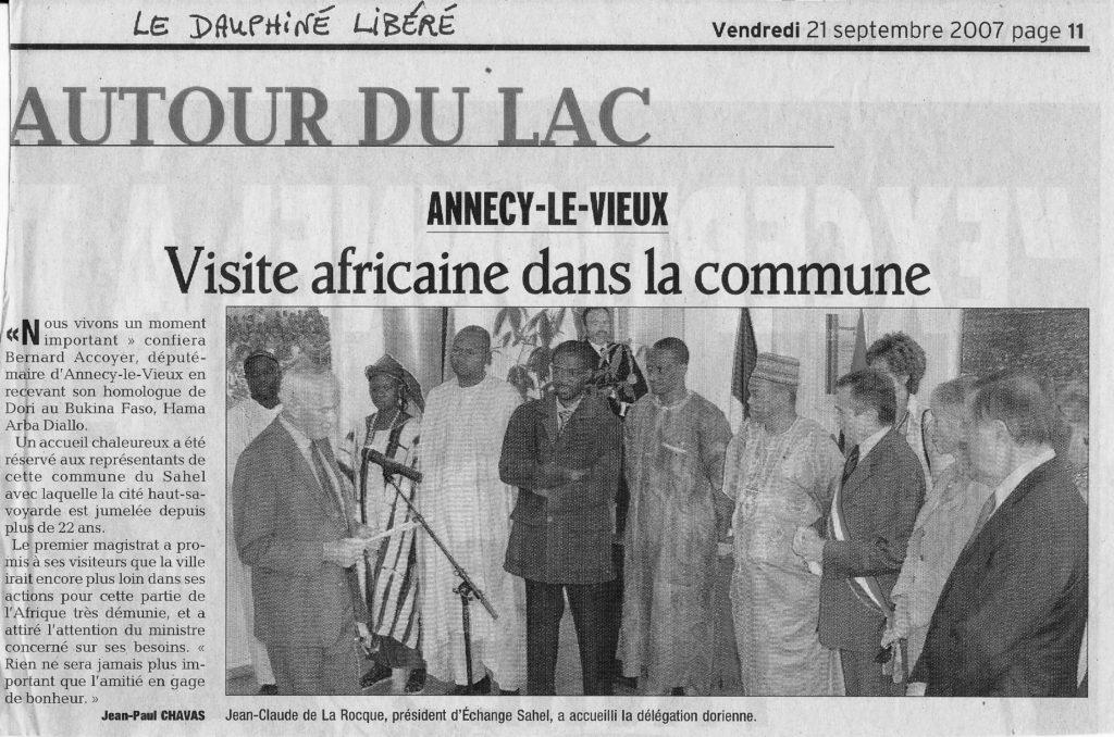 Visite africaine dans la commune