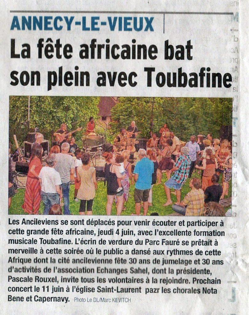 La fête africaine bat son plein avec Toubafine